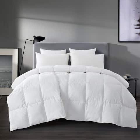 All Season White Goose Feather Down Comforter Duvet Insert