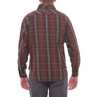 Schott Bros Long Sleeve Collared Button Down Men Regular Casual