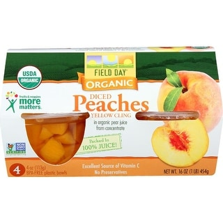 Field Day - Yellow Cling Diced Peaches Cups ( 24 - 4OZ)
