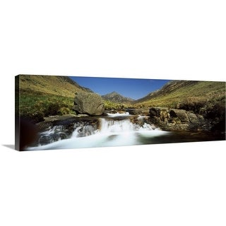 """""""Waterfall in a valley Glen Rosa Isle Of Arran Firth Of Clyde Scotland"""" Canvas Wall Art"""