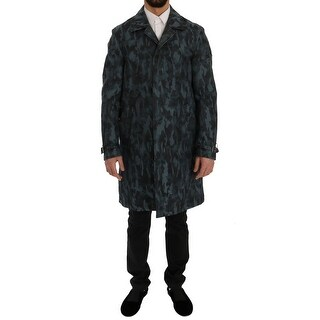 Dolce & Gabbana Dolce & Gabbana Blue Camouflage Trench Trench - it48-m