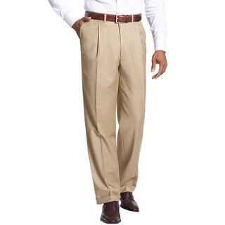 Alfani Black Label Regular Fit Pleated Front Dress Pants Khaki 30W x 32L