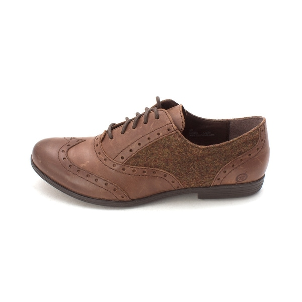 Born Mens KIKA Leather Lace Up Casual Oxfords - 8