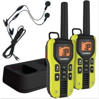 Uniden GMR4060-2CKHS Two Way Radio(40 Miles) with LiIon Charger and Headsets, Green(2 Pack)