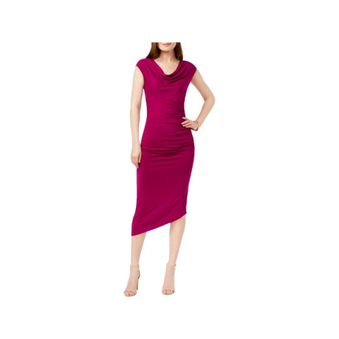 Vince Camuto Womens Cocktail Dress Midi Asymmetrical
