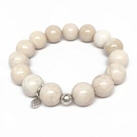 Ivory River Stone 'Classic Stone' stretch bracelet Sterling Silver