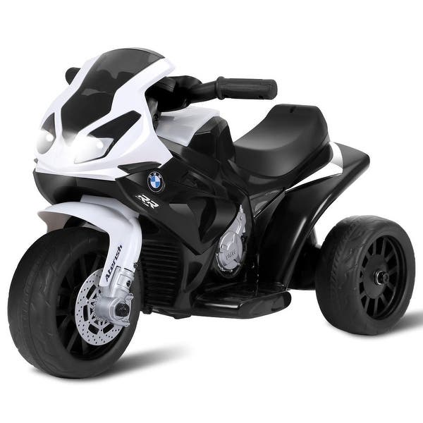 Shop Black Friday Deals On 6v Kids 3 Wheels Riding Bmw Licensed Electric Motorcycle Black Overstock 28433516