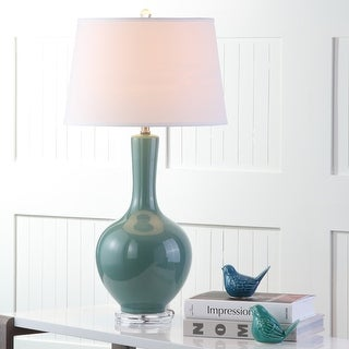 """Link to Safavieh Lighting 32-inch Teal Blanche Gourd Lamp (Set of 2) - 17""""x17""""x32"""" Similar Items in Lamp Sets"""