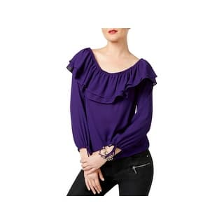 fed67907e825b8 MICHAEL Michael Kors Womens Casual Top Textured Cold Shoulder. 5 of 5 Review  Stars. 1. Quick View