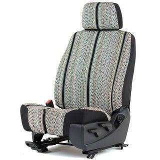 Universal Saddleblanket Low Back Bucket Seat Cover W/Headrest Cover