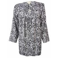 MICHAEL Michael Kors Women's Paisley 3/4 Sleeves Tunic Top