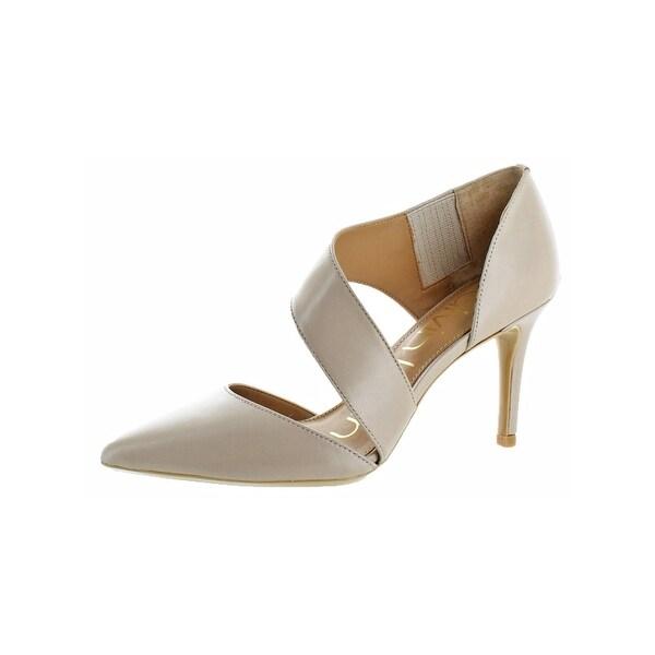 Calvin Klein Womens Gella Dress Heels Asymmetrical Strap Pointed Toe