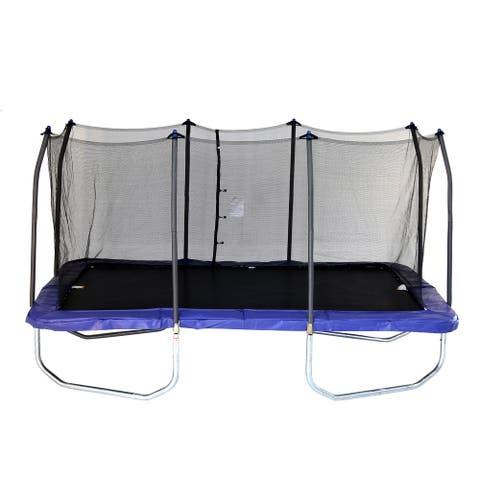 Skywalker Trampolines 15' Blue Rectangular Trampoline with Enclosure