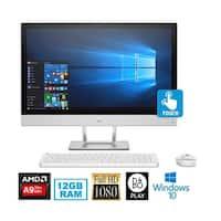 HP Pavilion 24-r015z All-in-One Touch Screen Desktop (Blizzard White) - White