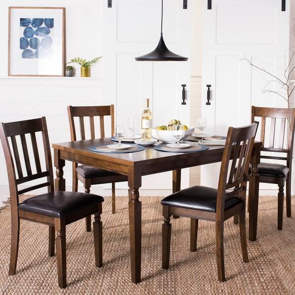 Safavieh Kodiak Light Oak 5 Piece Dining Set On Sale Overstock 21185317