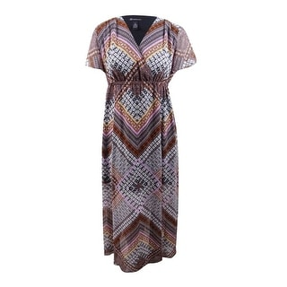 Link to INC International Concepts Women's Plus Printed Maxi Dress - Global Patch Similar Items in Women's Plus-Size Clothing