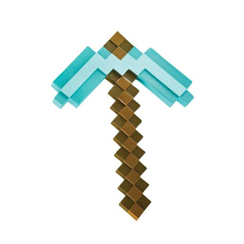 Minecraft Pickaxe Pixel Costume Accessory - Standard - One Size