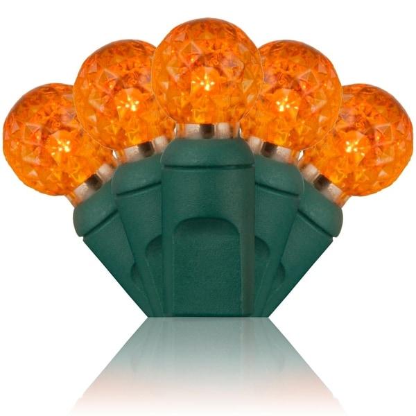 Wintergreen Lighting 50588 70 Bulb G12 Amber / Orange LED String Lights - amber/orange - N/A