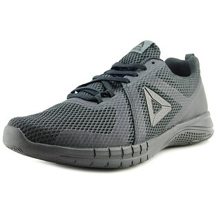 Reebok Print Run 2.0 Men Round Toe Synthetic Black Running Shoe