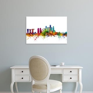 Easy Art Prints Michael Tompsett's 'Singapore Skyline' Premium Canvas Art