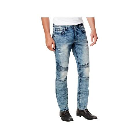 Buffalo David Bitton Mens Ash-X Slim Jeans Distressed Moto