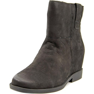 Kenneth Cole Reaction LIFT UP Women  Round Toe Suede Black Ankle Boot