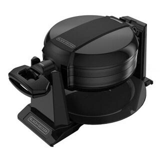 Applica WMD200B Black-Decker Double Flip Waffle Maker, Black