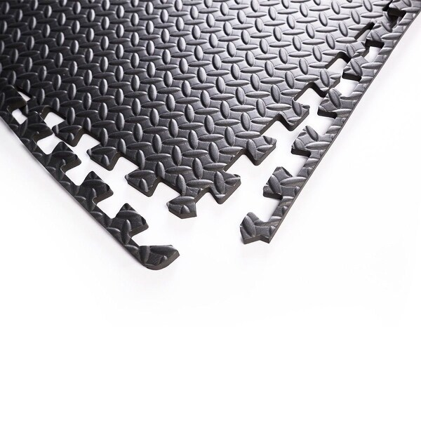 48 SQ FT EVA Foam Floor Interlocking Mat Show Floor Garage Gym EVA 6 Color New