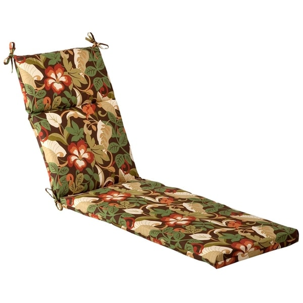 Shop Outdoor Patio Furniture Chaise Lounge Chair Cushion Floral