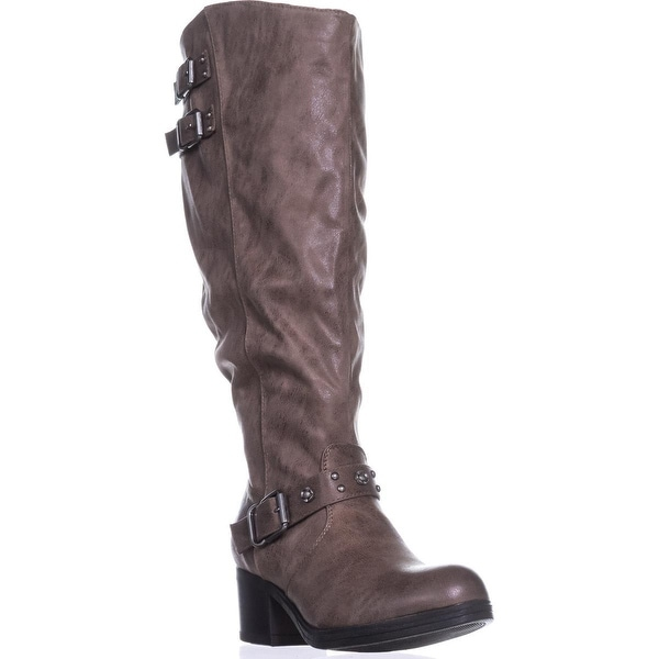 Carlos by Carlos Santana Cara Wide Calf Knee-High Boots, Taupe