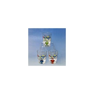 Club Pack of 12 Bubble 10 Ounce Shot Glasses with New York City Torch Design