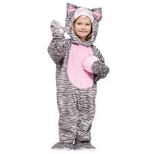 Toddler Little Stripe Kitten Animal Halloween Costume - 3t-4t