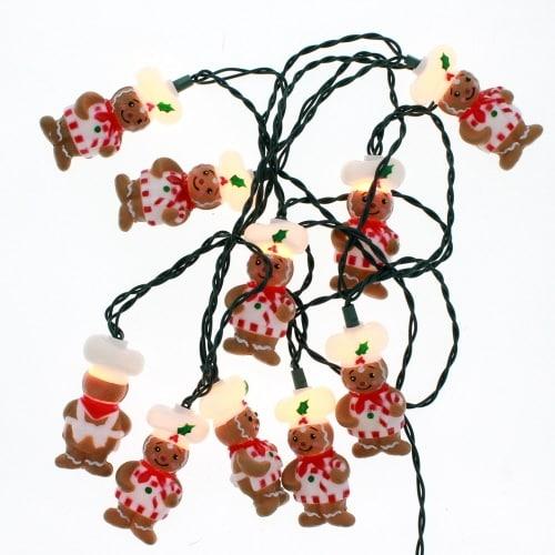 Kurt Adler UL4322 Gingerbread Light Set