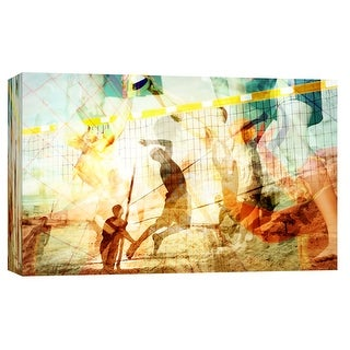 """PTM Images 9-103640  PTM Canvas Collection 8"""" x 10"""" - """"Beach Volleyball 1"""" Giclee Sports and Hobbies Art Print on Canvas"""
