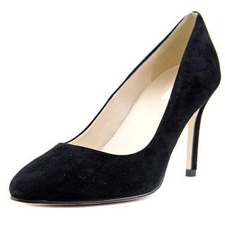 Cole Haan Fair Haven Pump 85 Women  Pointed Toe Suede Black Heels