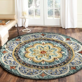 Link to Floral Distressed Medallion Area Rug Similar Items in Transitional Rugs