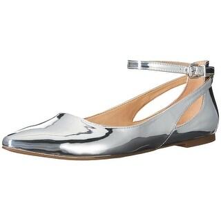Franco Sarto Womens sylvia Pointed Toe Ankle Strap Espadrille Flats