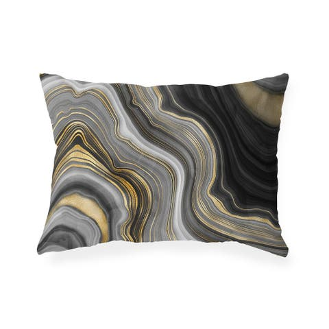 FORTIFICATION AGATE Indoor Outdoor Lumbar Pillow by Kavka Designs - 20X14