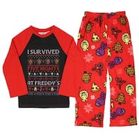 Five Nights at Freddys Boys Girls I Survived Five Nights At Freddy Holiday Shirt and Pants Set