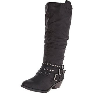 Report Womens Kathye Cowboy, Western Boots Knee-High Round Toe