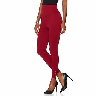 Serena Williams NEW Red Womens Small S Ankle Snap High-Waist Leggings