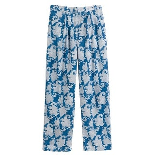 Women's Classic Blue And White Pj Set - Lounge Pants And Sleep Shirt