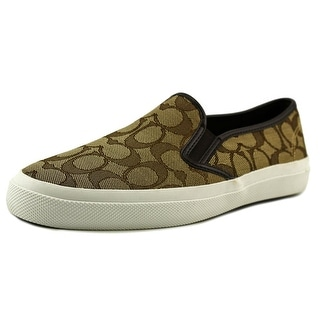 Coach Chrissy Outline Sig Round Toe Canvas Loafer