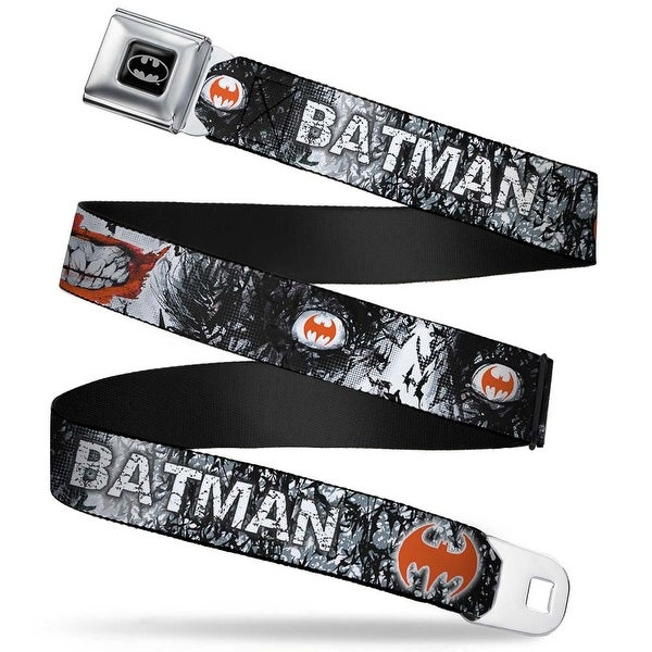 Batman Full Color Black Silver Black Joker Smile Close Up My Dark Architect Seatbelt Belt