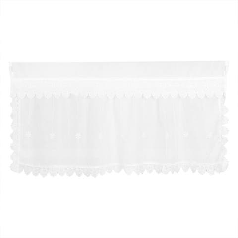 Polyester Flower Printed Blackout Curtain Window Valance 47 Inch x 27.6 Inch