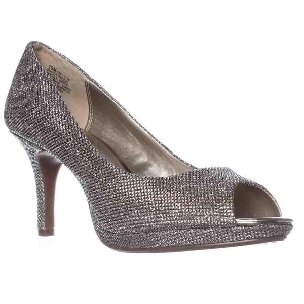 Bandolino Supermodel Peep-Toe Pump Heels - Gold