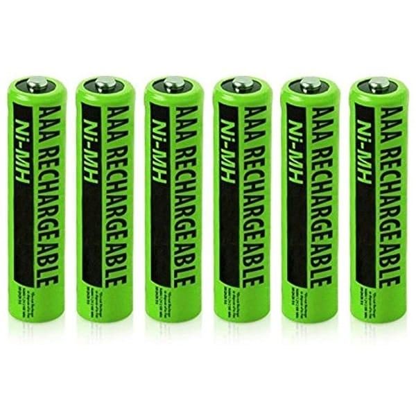 Replacement Battery For Panasonic KX-TG1031S / KX-TG6432T / KX-TG9 Phone Models (6 Pack)