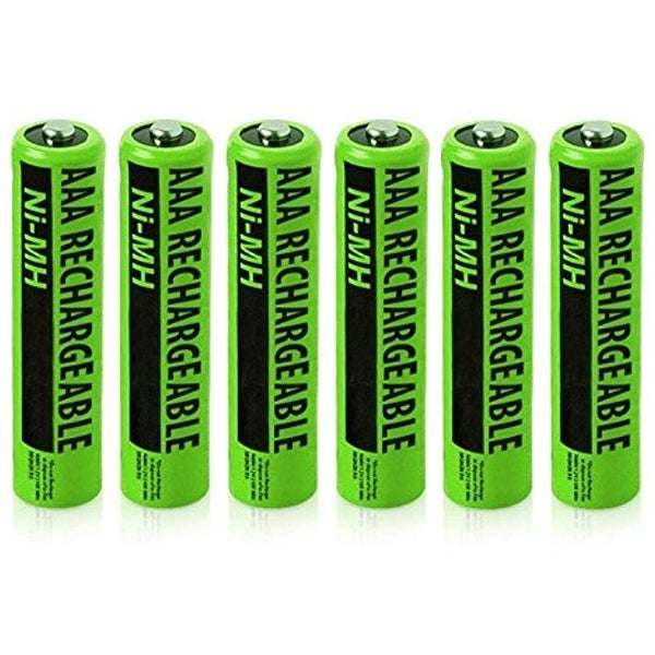 Replacement Panasonic NiMH AAA Battery for KX-TG3711SX  /KX-TG6845B  /KX-TGD224N  Phone Models- 6Pk