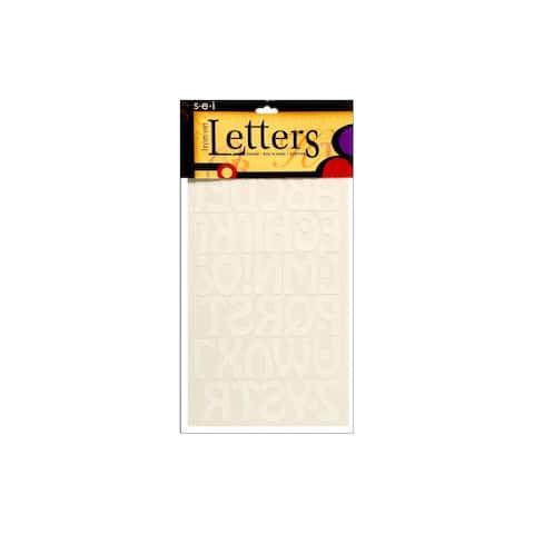 9-131 sei iron on art transfer letters cool 1 5 white