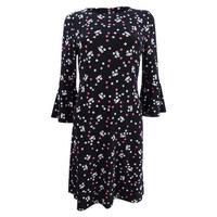 Tommy Hilfiger Women's Floral-Print Dress - Black Multi